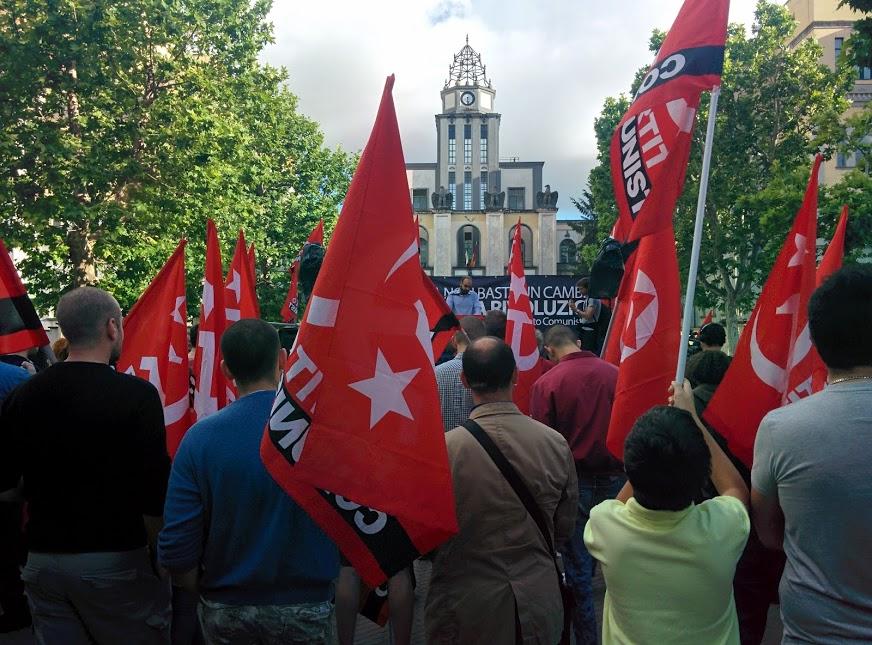 Il comizio del Partito Comunista alla Garbatella