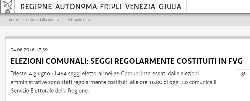 elezioni roma 2016 trenta ore seggio friuli venezia giulia 1
