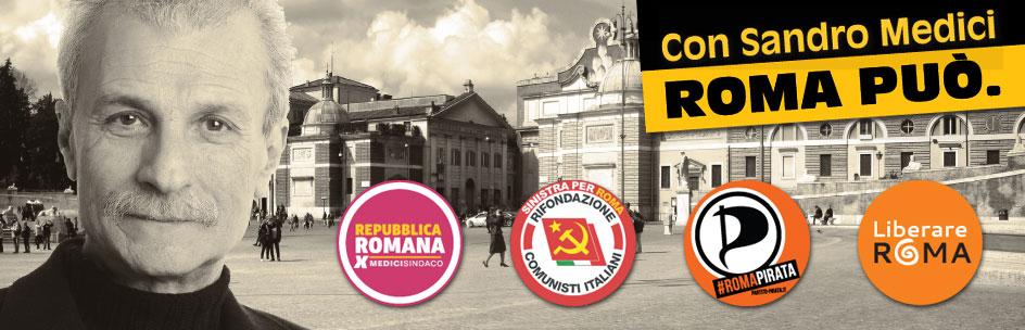 La coalizione che sosteneva Sandro Medici - Repubblica romana nel 2013